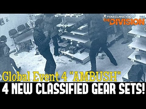 """The Division: 4 BRAND NEW CLASSIFIED GEAR SETS! GE 4 """"Ambush"""" Coming Soon!"""