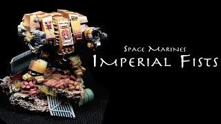 Painting Warhammer 40k: Imperial Fists Dreadnought