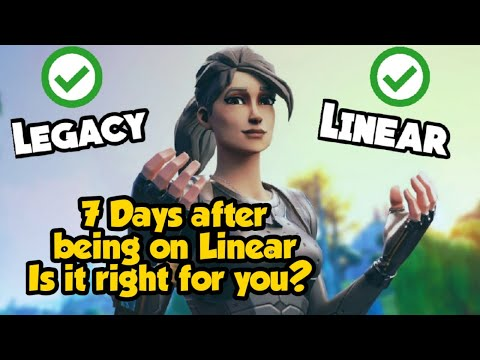 Linear Or Legacy | Whats Right For You? | Fortnite Best Settings | Fortnite Linear Setting