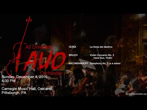 Carnegie Mellon All University Orchestra - Fall 2016 Concert Live Stream
