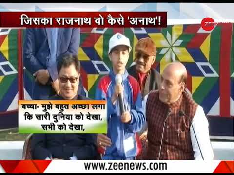 Watch: Impromptu response of Home Minister Rajnath Singh when a kid from J&K calls himself an orphan