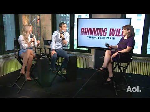 Julianne Hough & Bear Grylls - Chat Running Wild 'Africa' #AOLBuild