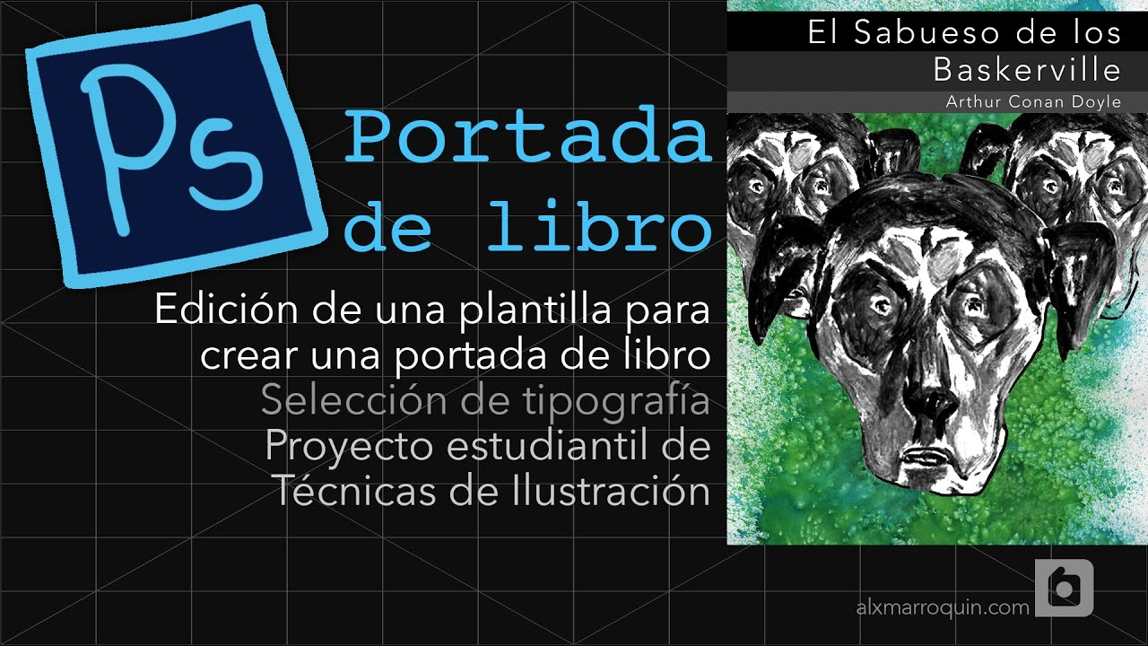 Tutorial Photoshop Básico | Hacer una portada de Libro - YouTube