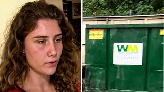 When This Teen  Found A Crate Next to the Dumpster, She Was Shocked By What She Found Inside