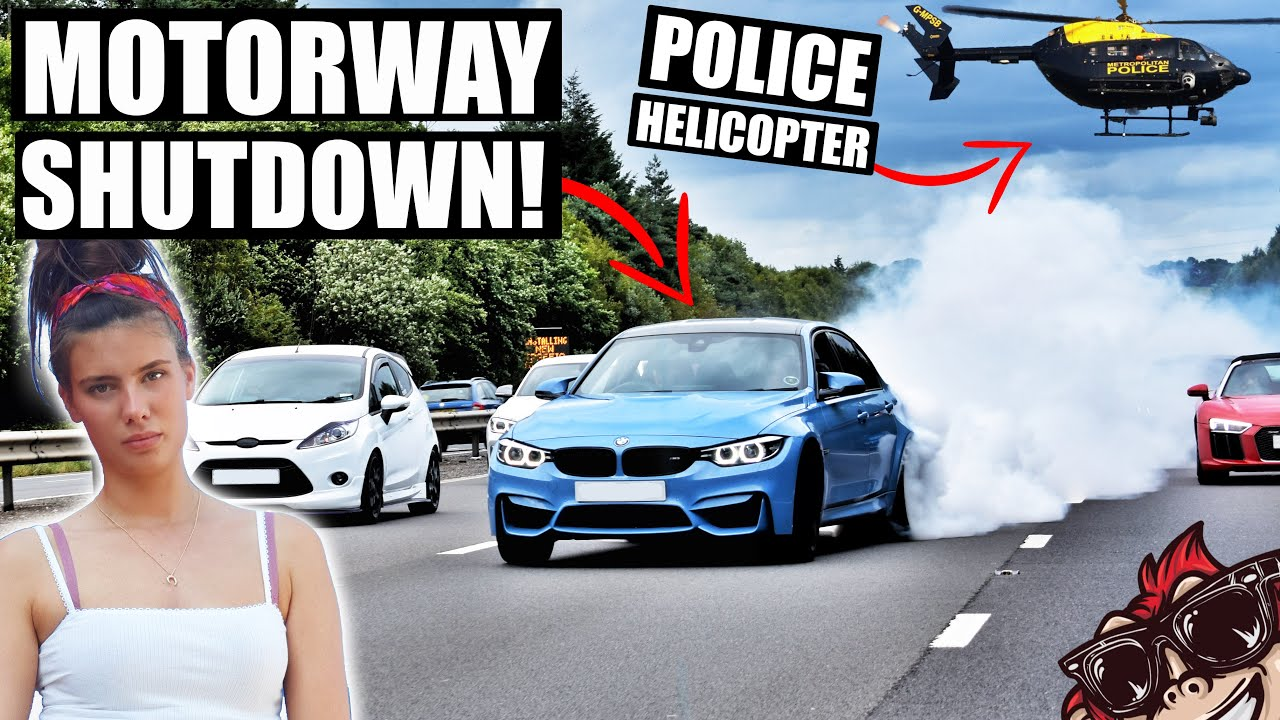 🐒 CAR SHOW SHUTS DOWN MOTORWAY - POLICE HELICOPTER CALLED!