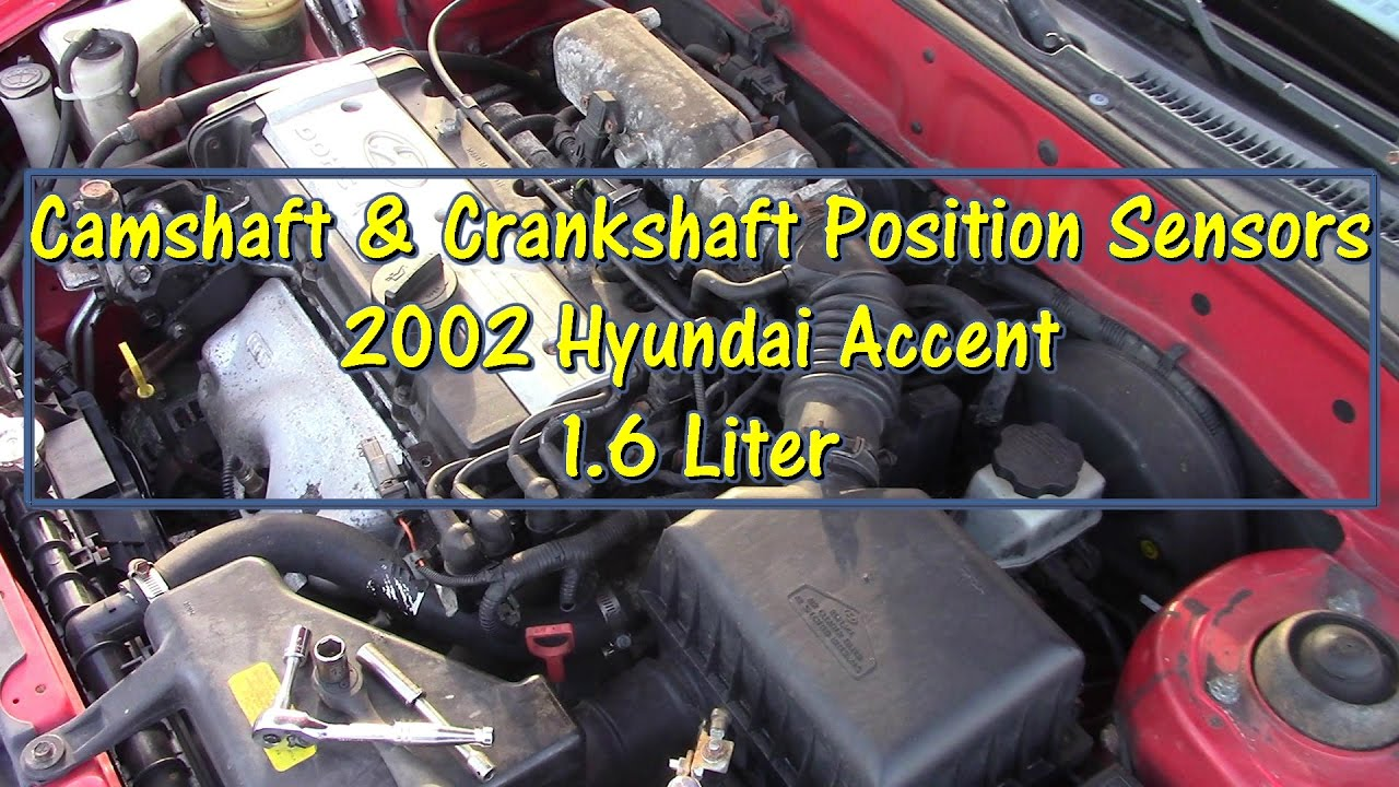 small resolution of how to replace camshaft crankshaft position sensors on a 2002 hyundai accent by gettinjunkdone youtube