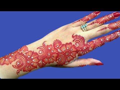 Easy Arabic Mehndi Design For Back Hand New Flower Mehndi Design Easy Simple Mehndi Design Youtube