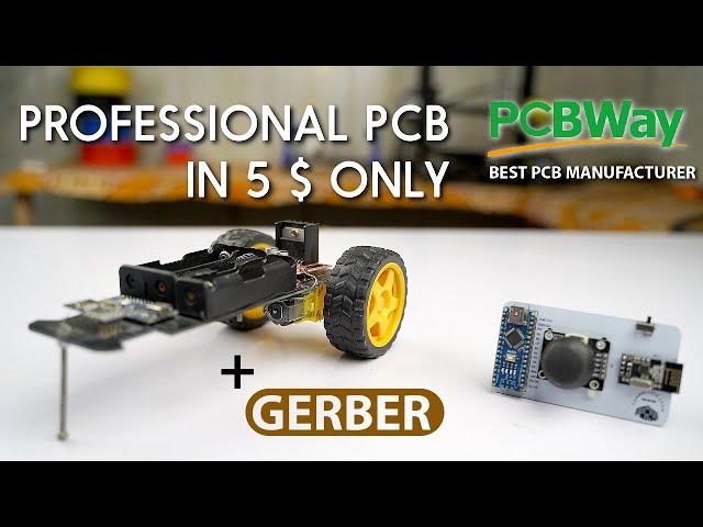 PCBWAY.COM Professional PCB in $5 Arduino Wireless Car