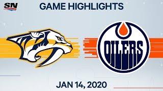 NHL Highlights   Predators vs. Oilers – Jan. 14, 2020