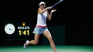 Maria Sharapova vs Agnieszka Radwanska | 2014 WTA Finals Highlights