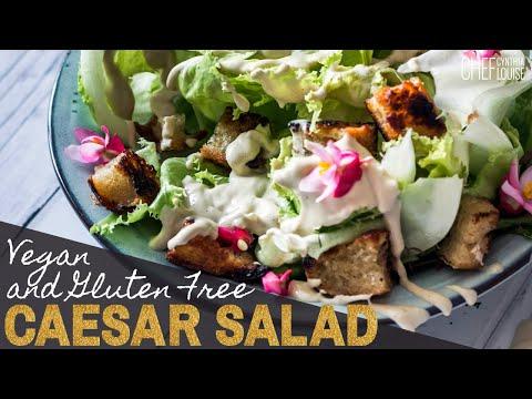 How To Make Vegan Caesar Salad In Minutes (Gluten Free Recipe)