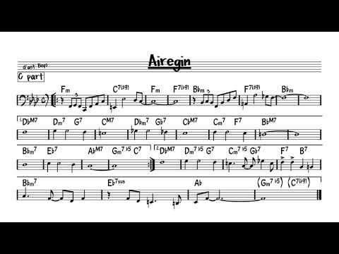 Airegin - Play along - C bass version