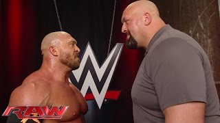Big Show confronts Ryback in the backstage area: Raw, June 22, 2015