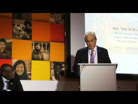 Tony De Brum on ocean challenges faced by Marshall Islands and Micronesia with climate change