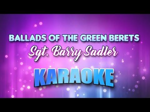 Sgt. Barry Sadler - Ballads Of The Green Berets (Karaoke & Lyrics)