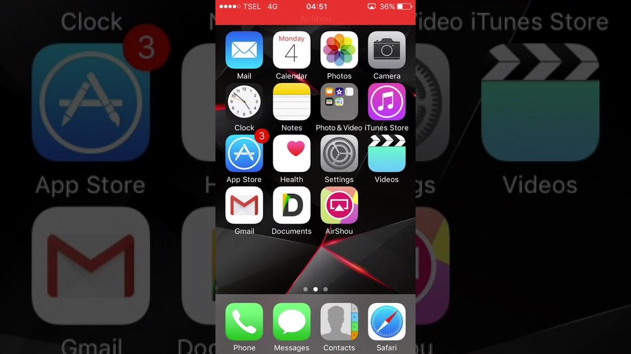 CARA REKAM LAYAR IPHONE DENGAN AIRSHOU 100% WORK IOS 10.3.3 NO ...