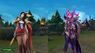 Brave Phoenix Xayah vs Star Guardian Xayah Skin MODEL comparison