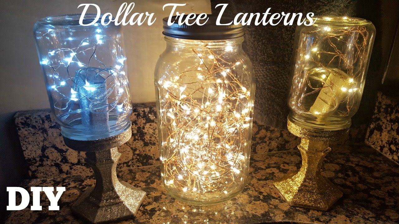 Correct Way To String Christmas Lights On Tree : DIY DOLLAR TREE MASON JAR LANTERNS 2017 Starry FAIRY STRING LIGHTS CRAFT - YouTube