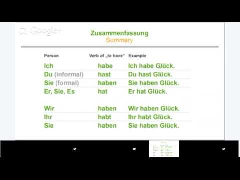 [German] Beginner: Grammar 1