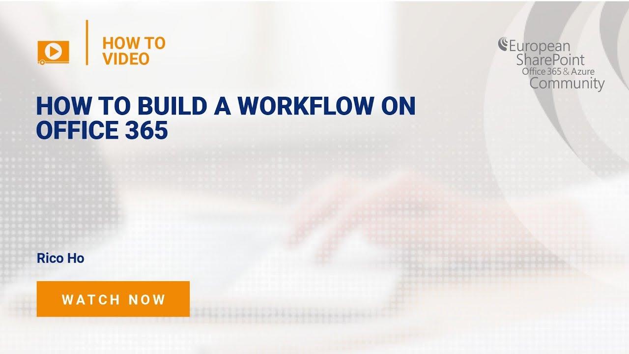 microsoft 365 workflow