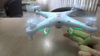 Syma X5C-1 - Unboxing e Detalhes do Quadricóptero / Drone (Portuguese + English subtitles)