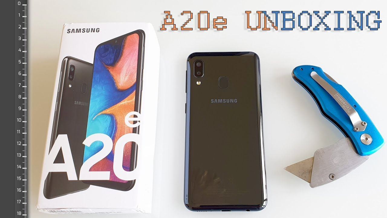 Samsung A20e Unboxing And Size Comparison Youtube