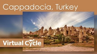 Virtual Cycling Tour of Unesco World Heritage  The Cappadocia, Turkey - Great for Treadmill Workout