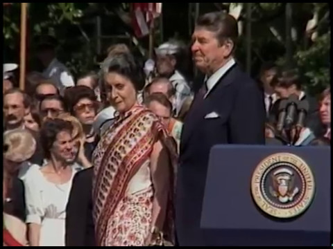 President Reagan's Remarks at Prime Minister Gandhi of India State Visit on July 29, 1982