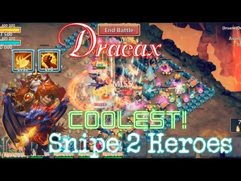 Dracax Skill 12 Brute Force Damage Increase? Coolest Skill Animation - Castle Clash