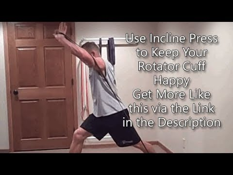 Resistance Band Incline Chest Press - YouTube