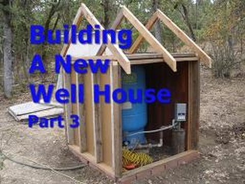 Building a new well house part 3 youtube for Fiberglass well house