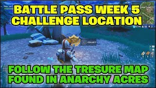 """Fortnite Battle Royale """"Follow the Treasure Map found in Anarchy Acres"""""""