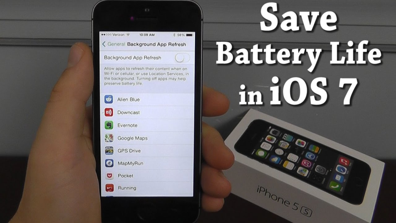 How to Save Battery Life in iOS 7 - YouTube