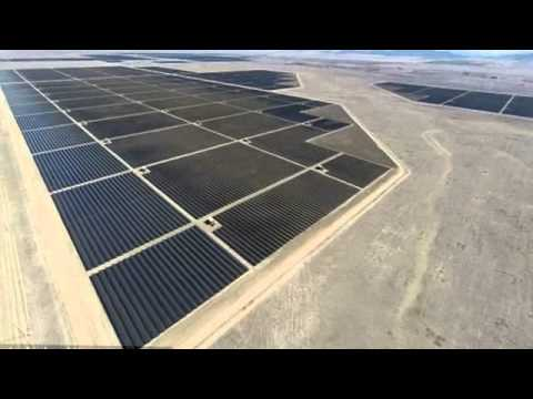 Watch the world's largest solar power plant being built: Huge farm generates energy for 160,000..