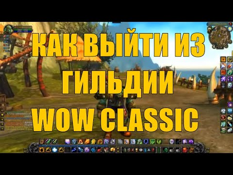 Как покинуть гильдию ВоВ Классик WoW Classic