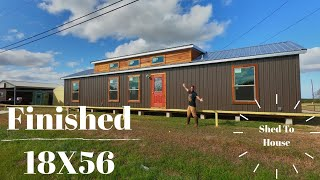 SHED TO HOUSE - FINISHED 18X56