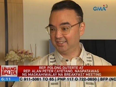 UB: Rep. Polong Duterte at Rep. Alan Peter Cayetano, nagpatawag ng magkahiwalay na breakfast meeting