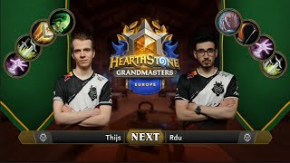 Thijs vs Rdu | 2021 Hearthstone Grandmasters Europe | Semifinal | Season 1 | Week 2