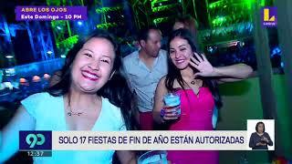 Solo 17 Fiestas de Fin de Año en Lima y Callao están autorizadas