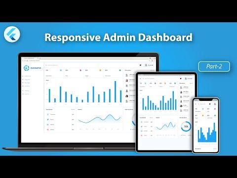 Responsive Admin Dashboard or Panel using Flutter  - Flutter Web UI - Part 2