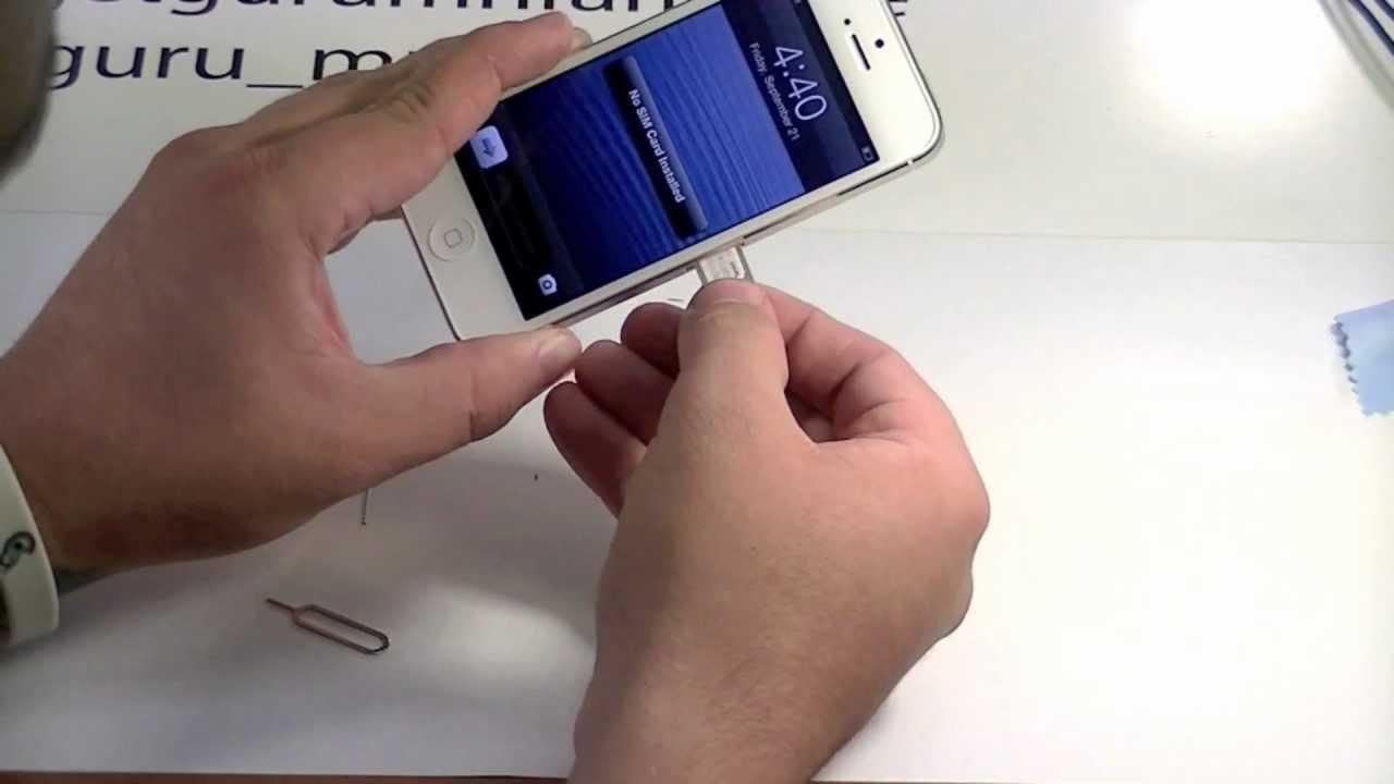 Wie Geht Am Iphone 5s Der Sim Kartenschacht Auf