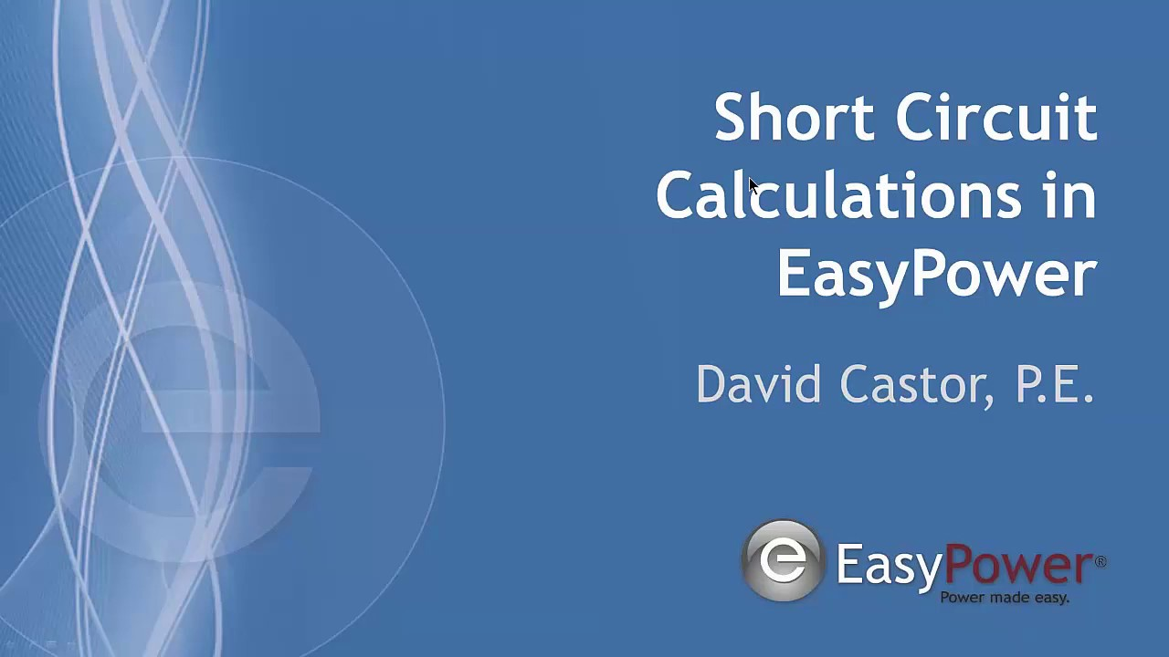 Short Circuit Calculations In Easypower Youtube Shortcircuit Calculation Example