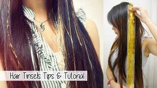 Hair Tinsels FAQs, TUTORIAL, Tips & Tricks