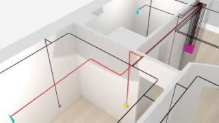 видео Схема электропроводки в частном доме
