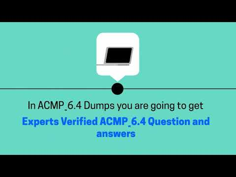 Discover Effective ACMP_6.4 Exam Strategies - Valid ACMP_6.4 Dumps