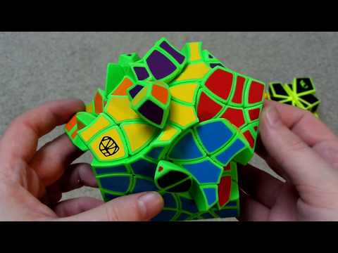 Chewie's Custom Stickers Unboxing: Mirror Square-1, Square-Equal, Dino Plus, & Andromeda Cube