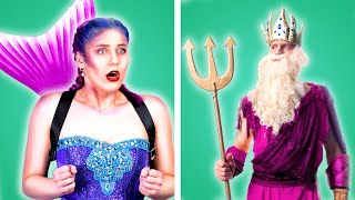 MERMAID IN SCHOOL! Funny Mermaid Situations & DIY Mermaid School Supplies by Crafty Panda