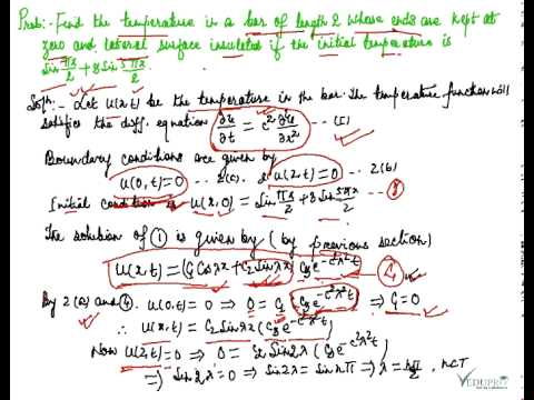 One Dimensional Heat Equation Solution Examples Part 1