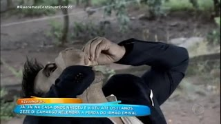 Zezé Di Camargo come ovo cru como prova de amor à namorada Graciele