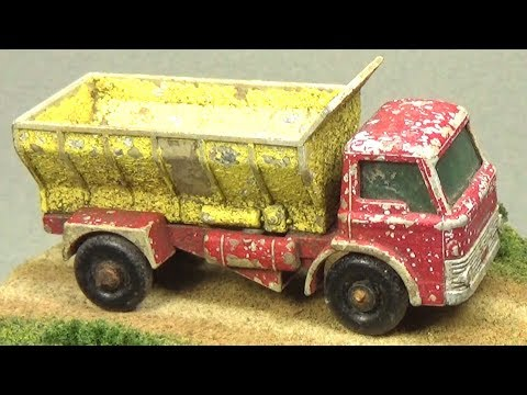 Restoring a Matchbox No 70 Grit Spreading Truck that was buried underground for 35 years!!